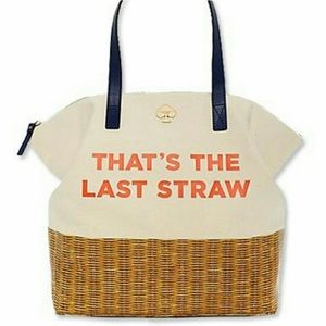 Kate spade the last straw tote bag summer beach